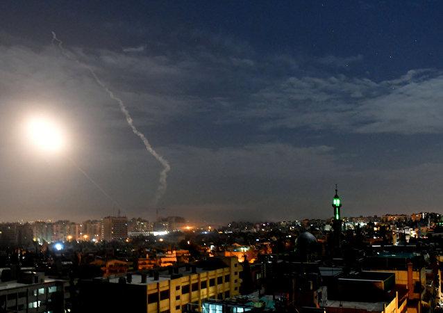 Un ataque israelí contra Damasco, Siria (archivo)