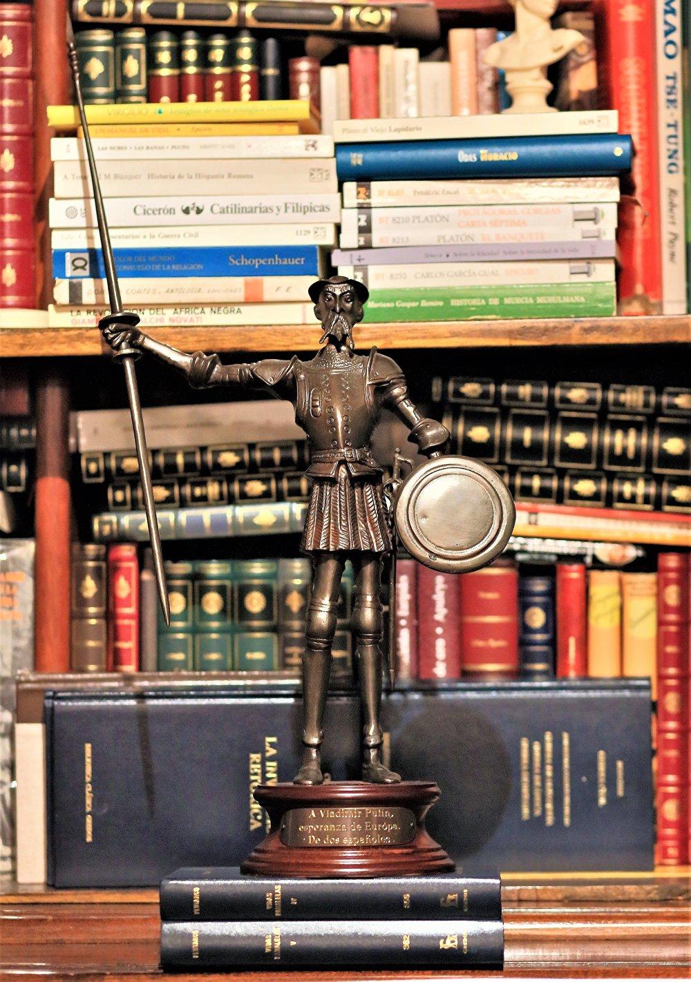 Estatua del Quijote, regalo para Vladímir Putin