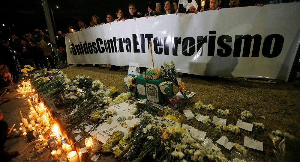 Homenaje a las víctimas del atentado en Bogotá, Colombia