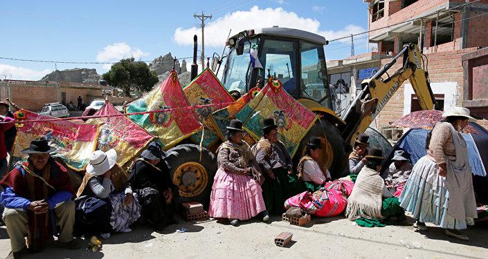 Bloqueo de vertedero en La Paz