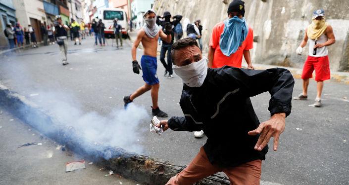 La tensa situación en Caracas