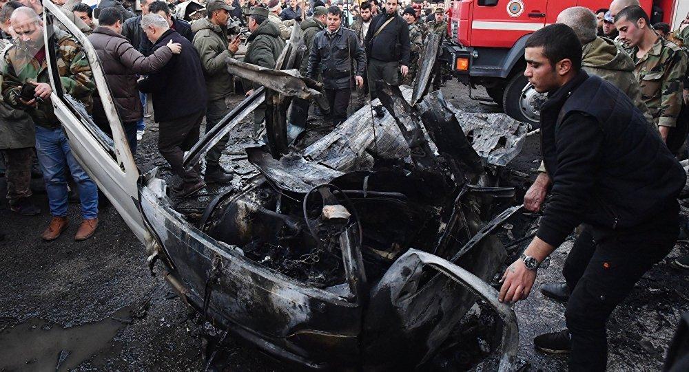 Explosión de un coche bomba en Latakia