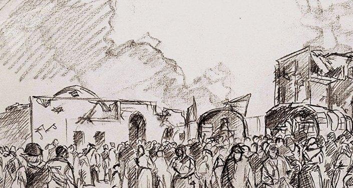 Secuencia de una parte del cuadro de Augusto Ferrer-Dalmau