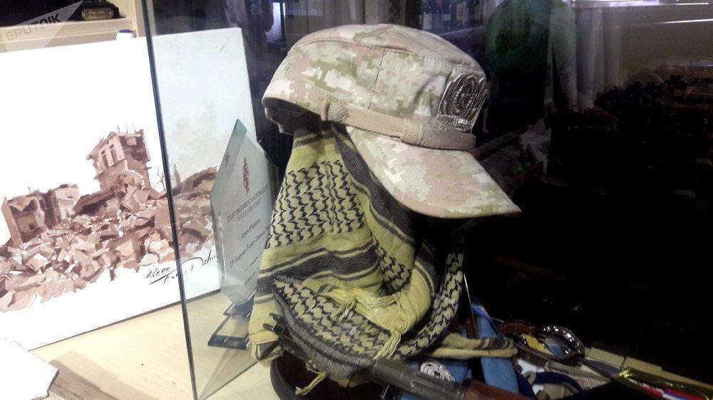 Una gorra del Ejército ruso que le regalaron a Augusto Ferrer-Dalmau en Alepo, Siria