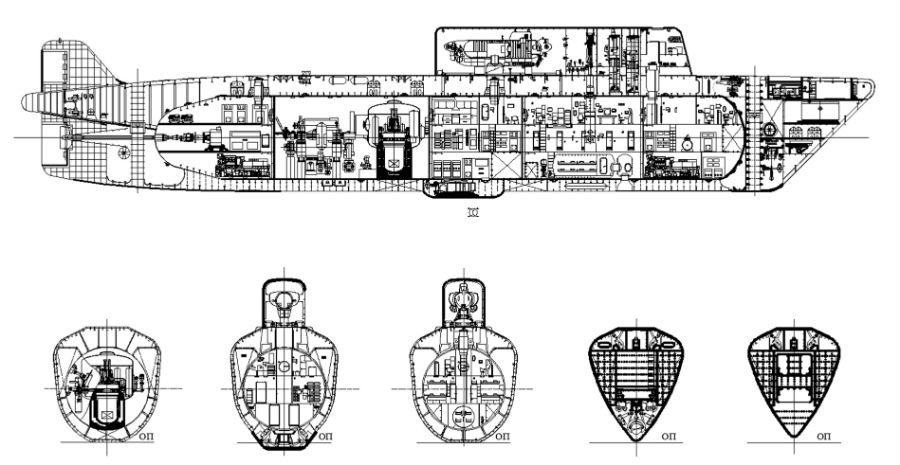 Proyecto del submarino rompehielos nuclear de Malajit