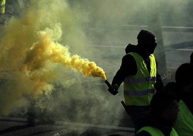 Protestas de los taxistas españoles en España