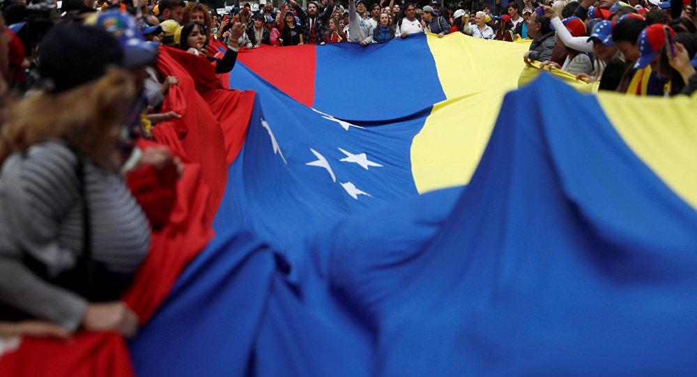 Manifestaciones a favor de la oposición venezolana