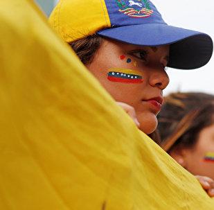 Manifestante en Venezuela