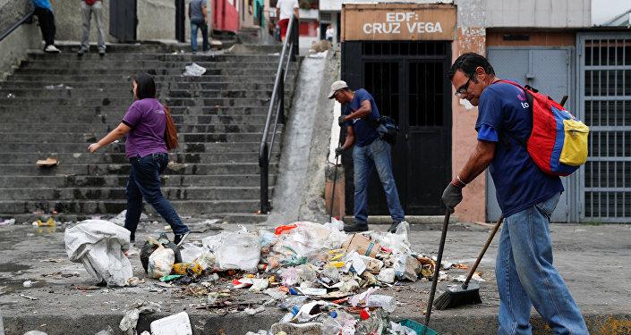 Caracas (Venezuela) después de las protestas