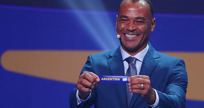 El futbolista Cafu durante el sorteo de la fase de grupos de la Copa América 2019 en Río de Janeiro (Brasil), el 24 de enero de 2019