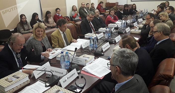 El acto de la presentación del libro España y Rusia diplomacia y diálogo de culturas. Tres siglos de relaciones