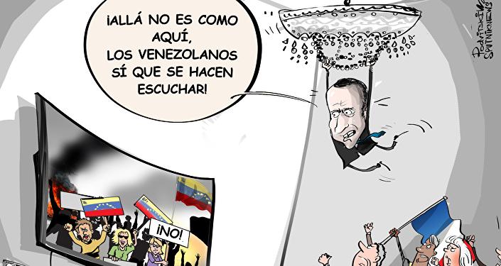 Zajárova a Macron: los 'chalecos amarillos' podrían ponerse celosos por sus palabras sobre Venezuela