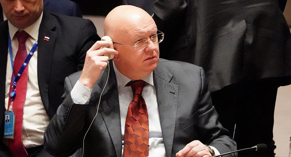 Vasili Nebenzia, embajador de Rusia ante la ONU