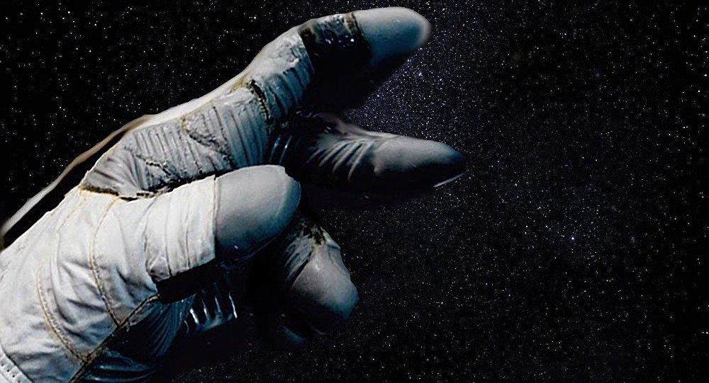 La mano del astronauta