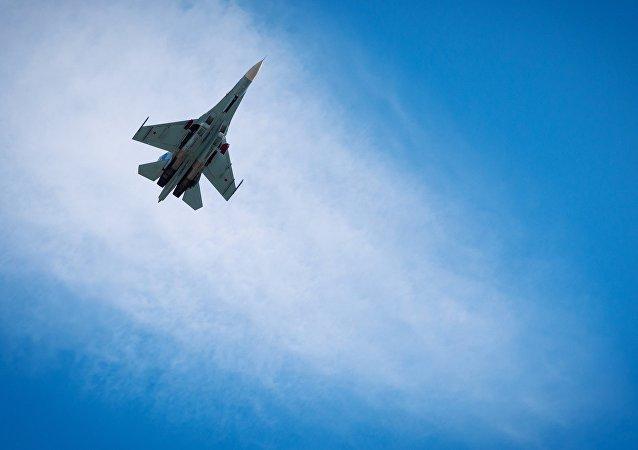 Un caza Su-27 ruso (archivo)