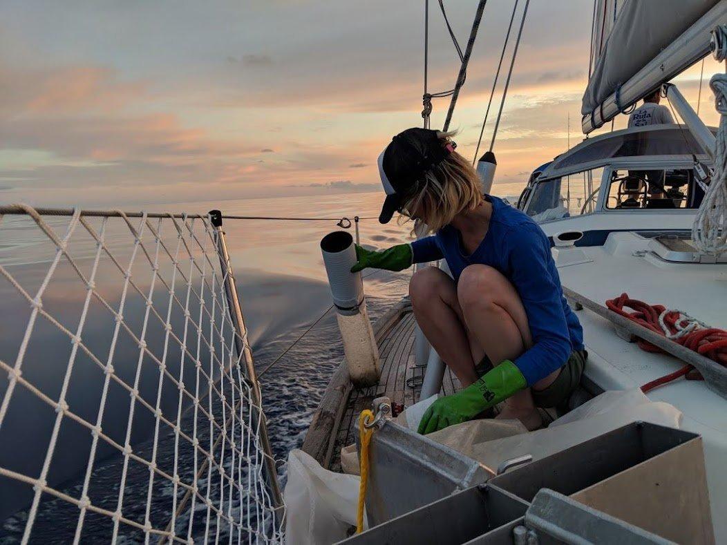 Agustina Besada atravesó el Atlántico con el velero Fanky