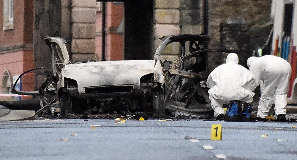 Lugar de la explosión en Derry-Londonderry