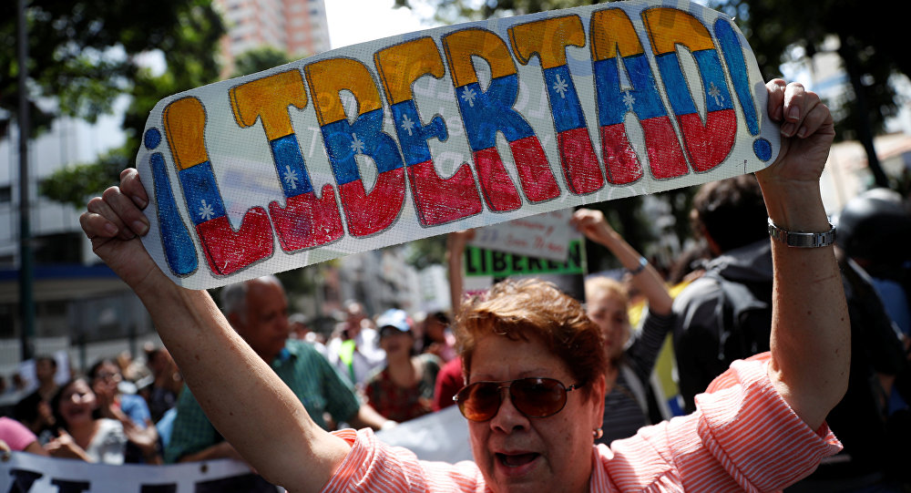 Protestas de la oposición contra el presidente venezolano, Nicolás Maduro, en Caracas