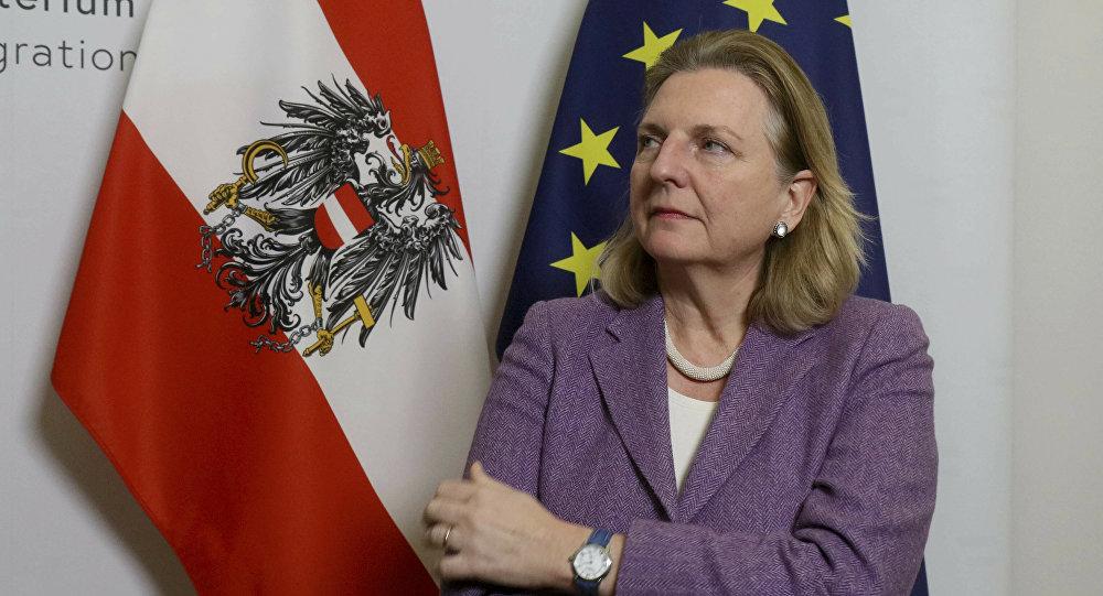 Karin Kneissl, la ministra austriaca de Exteriores
