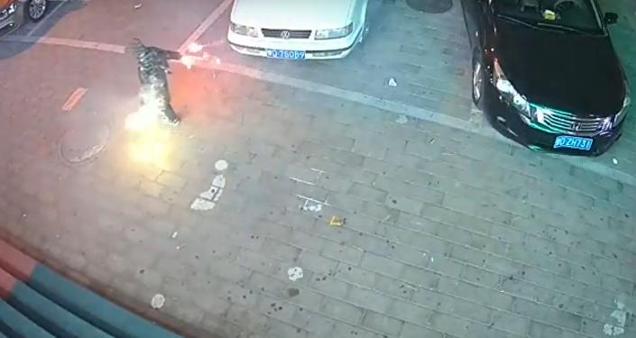 No mezcles el fuego con el alcantarillado: así explota una fosa séptica en China