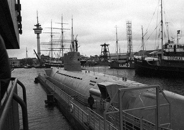 Un antiguo submarino de Alemania