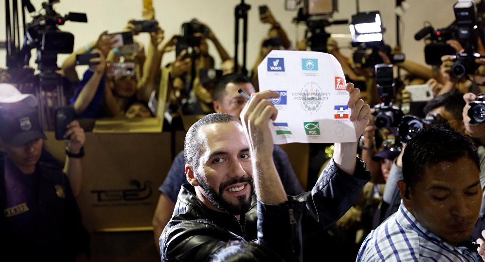 Nayib Bukele, candidato a la presidencia de El Salvador