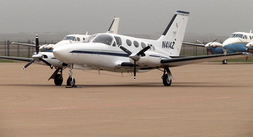 Un Cessna 414, imagen referencial