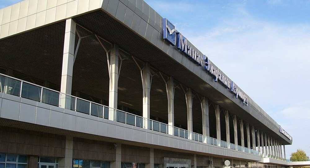 El aeropuerto internacional de Manás en Biskek