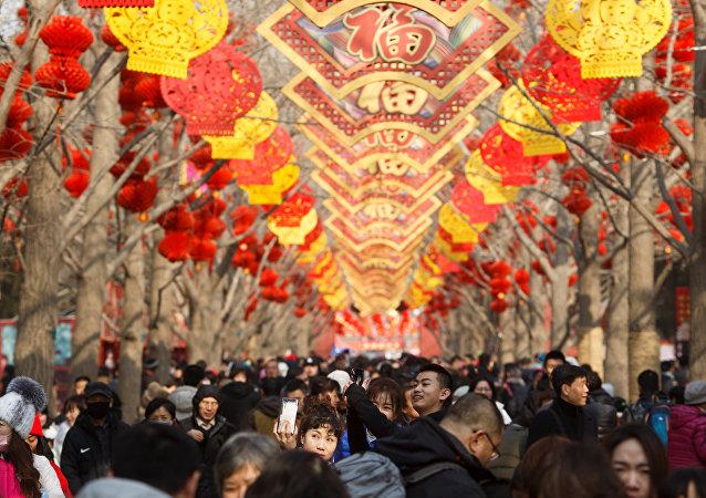 Los chinos celebran el Año Nuevo
