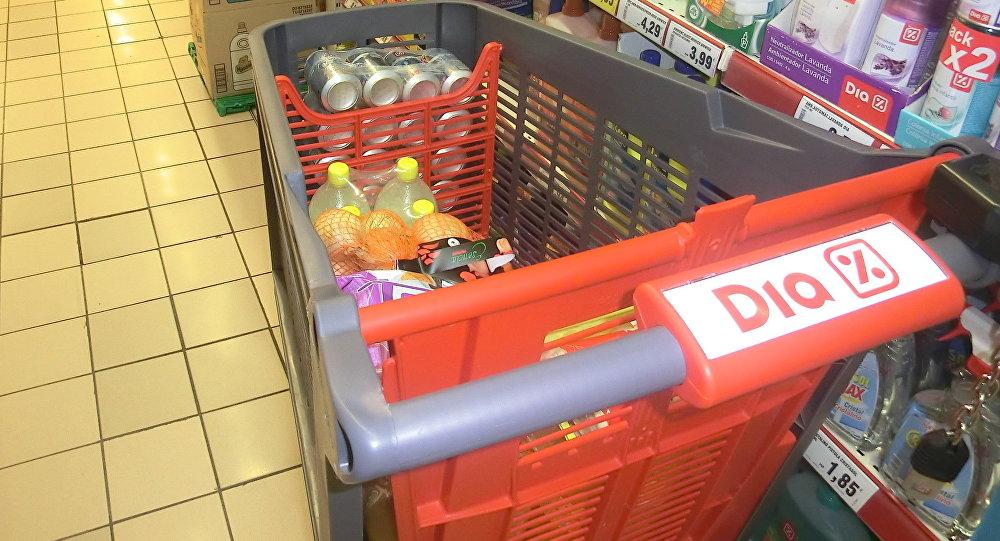 Сarrito de compras del supermercado Dia