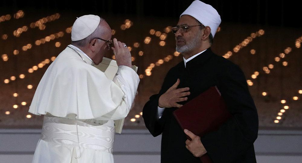El papa Francisco y el gran imán de Al Azhar, Ahmed Tayeb