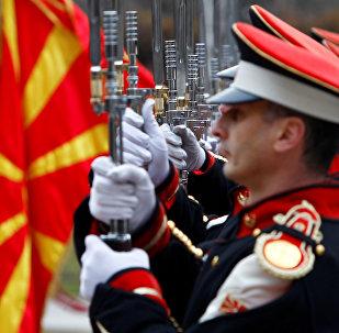 La guardia de honor de Macedonia