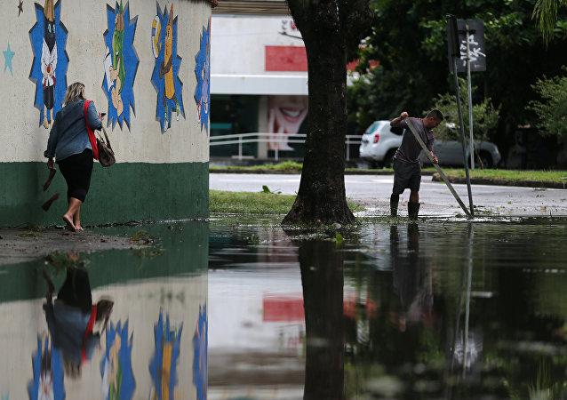 Consecuencias del temporal en Río de Janeiro, Brasil