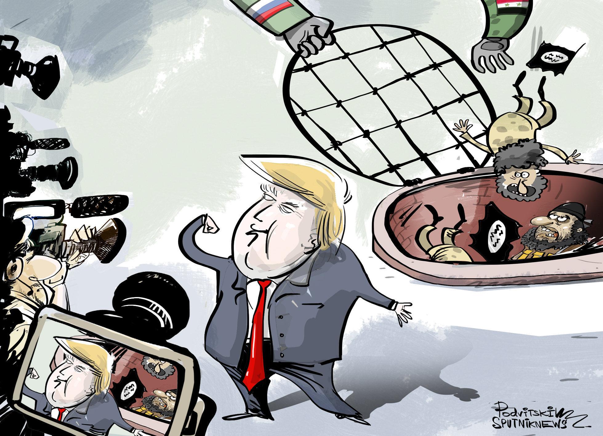 Cómo pretende Trump fingir que EEUU ganó en Siria