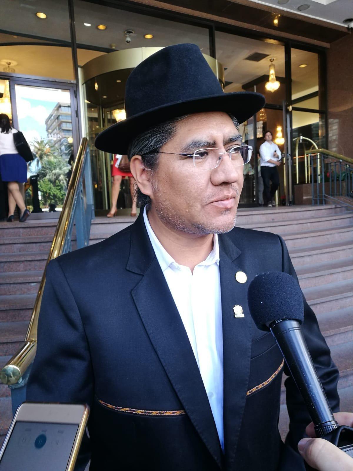 Canciller de Bolivia Diego Para en la antesala de la reunión del Grupo de Contacto