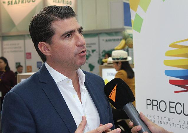 El ministro de Agricultura y Ganadería de Ecuador, Xavier Lazo