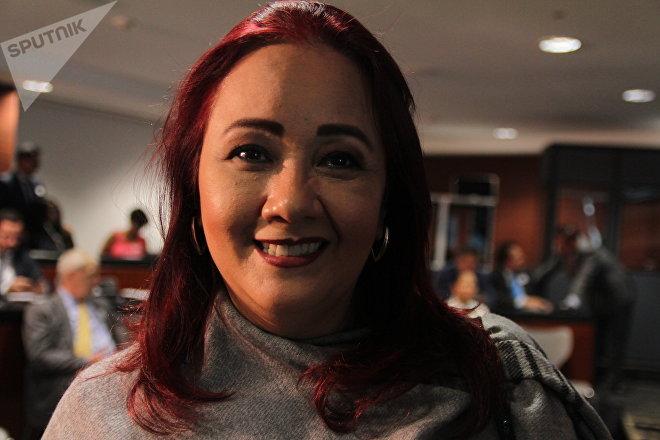 La senadora Cecilia Pinedo en el Foro estratégico sobre energía e inversión en el Senado mexicano