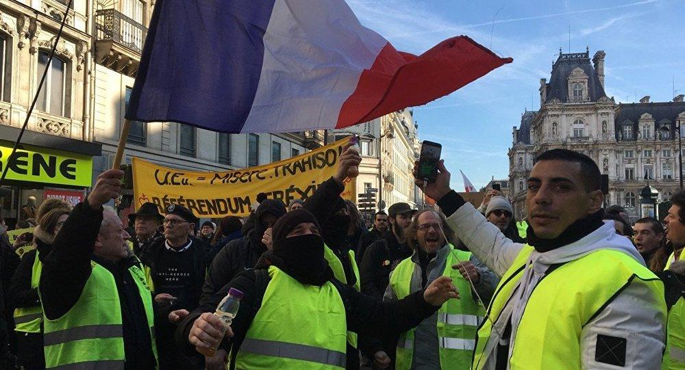 Protestas de chalecos amarillos en Francia