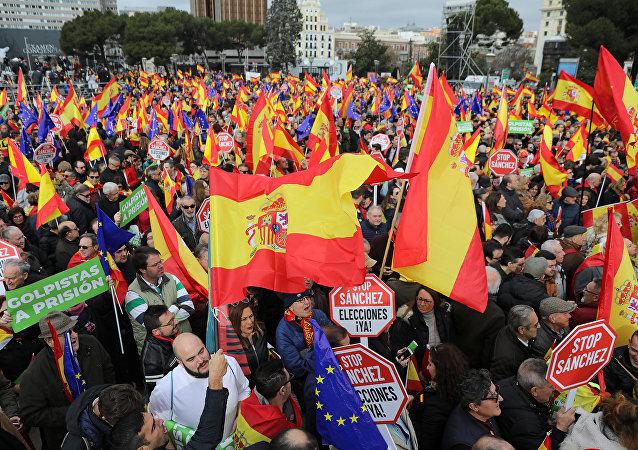Manifestación de protesta en Madrid