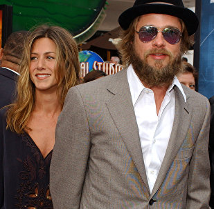 Jennifer Aniston y Brad Pitt, foto de archivo