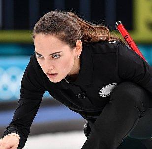Anastasia Brizgálova, jugadora de curling rusa