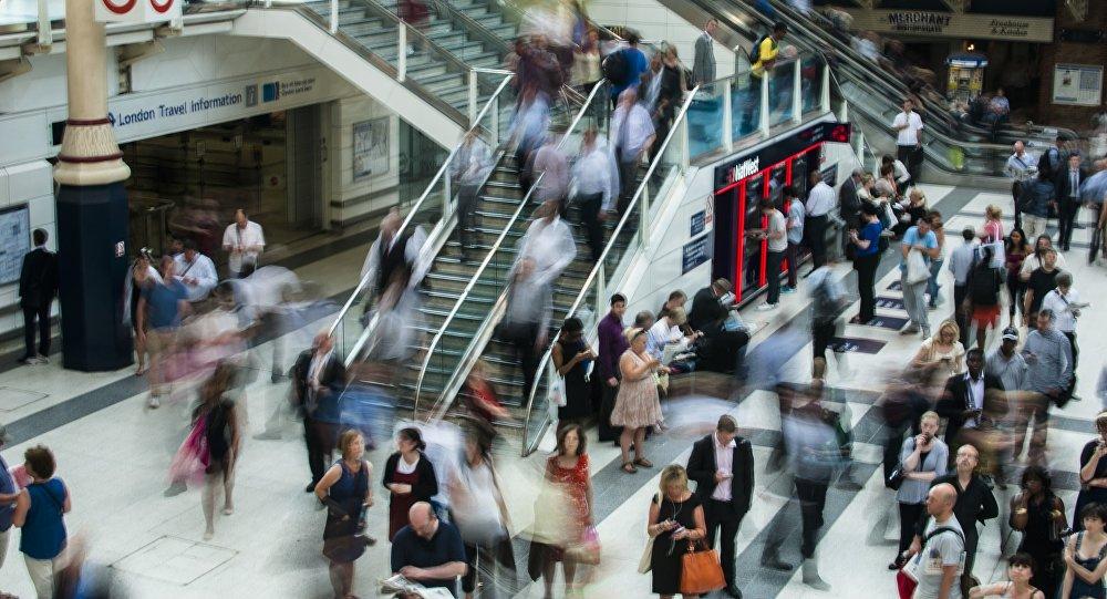 Una multitud, imagen referencial