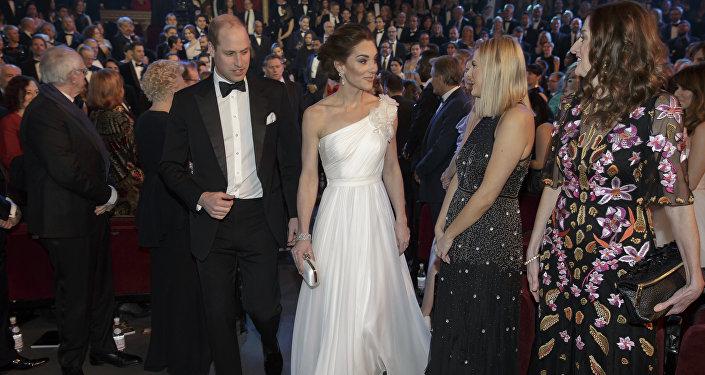 William y Kate en los premios BAFTA