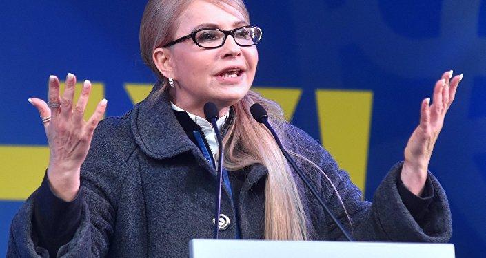 La candidata a la presidencia de Ucrania, Yulia Timoshenko