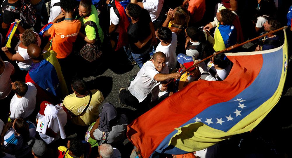 Protesta de la oposición en Caracas (archivo)