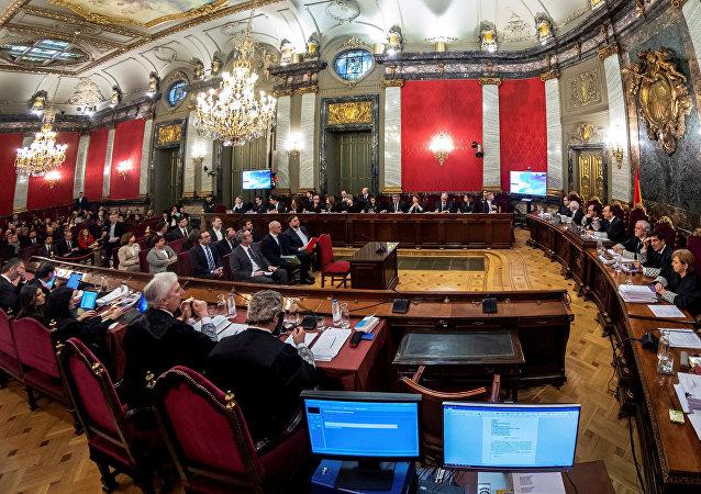 El juicio a los líderes independentistas catalanes en Madrid