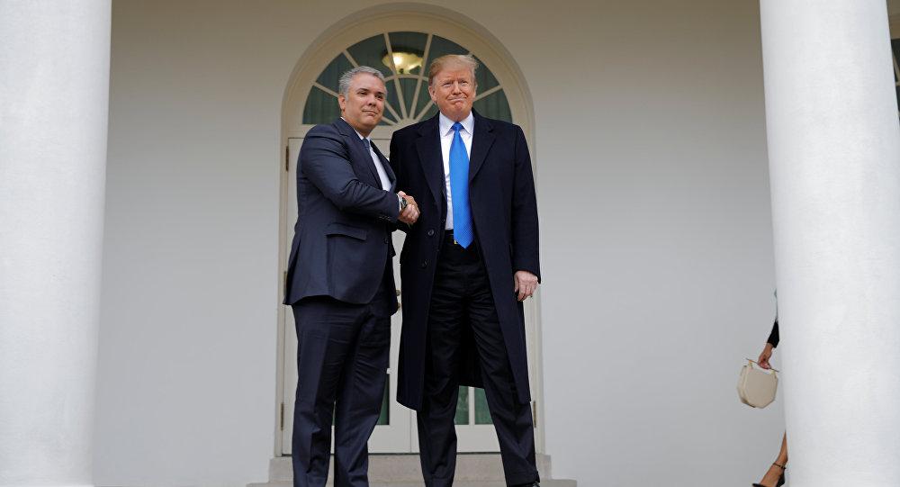 Iván Duque, presidente de Colombia y Donald Trump, presidente de EEUU