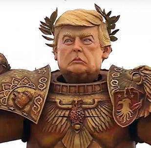 Trump, el 'emperador de la humanidad' 'conquista' una calle de Italia