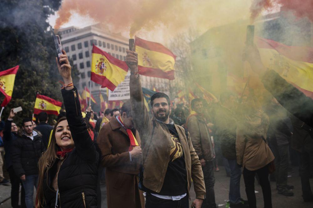 Manifestación por la unidad de España en Madrid.