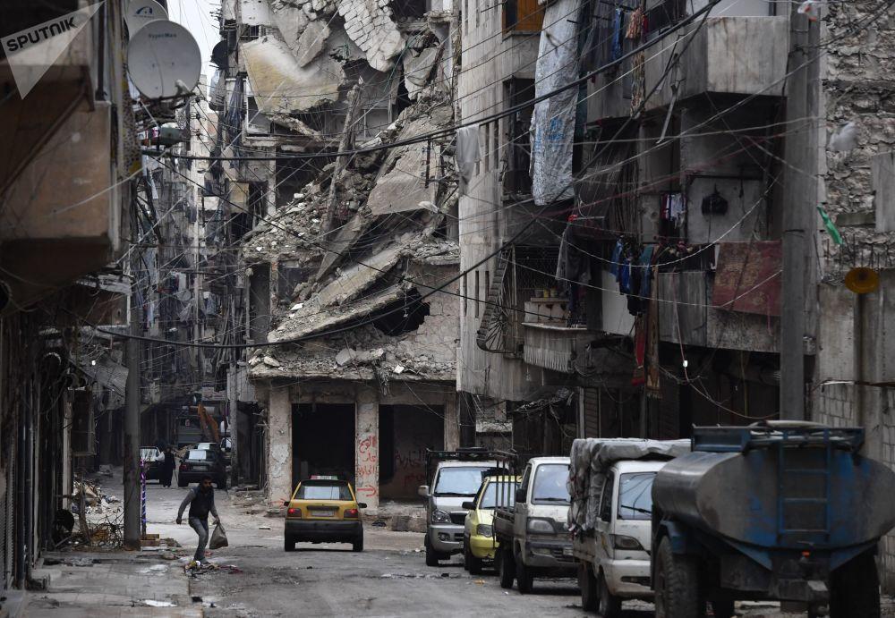 Una calle de Alepo en Siria.